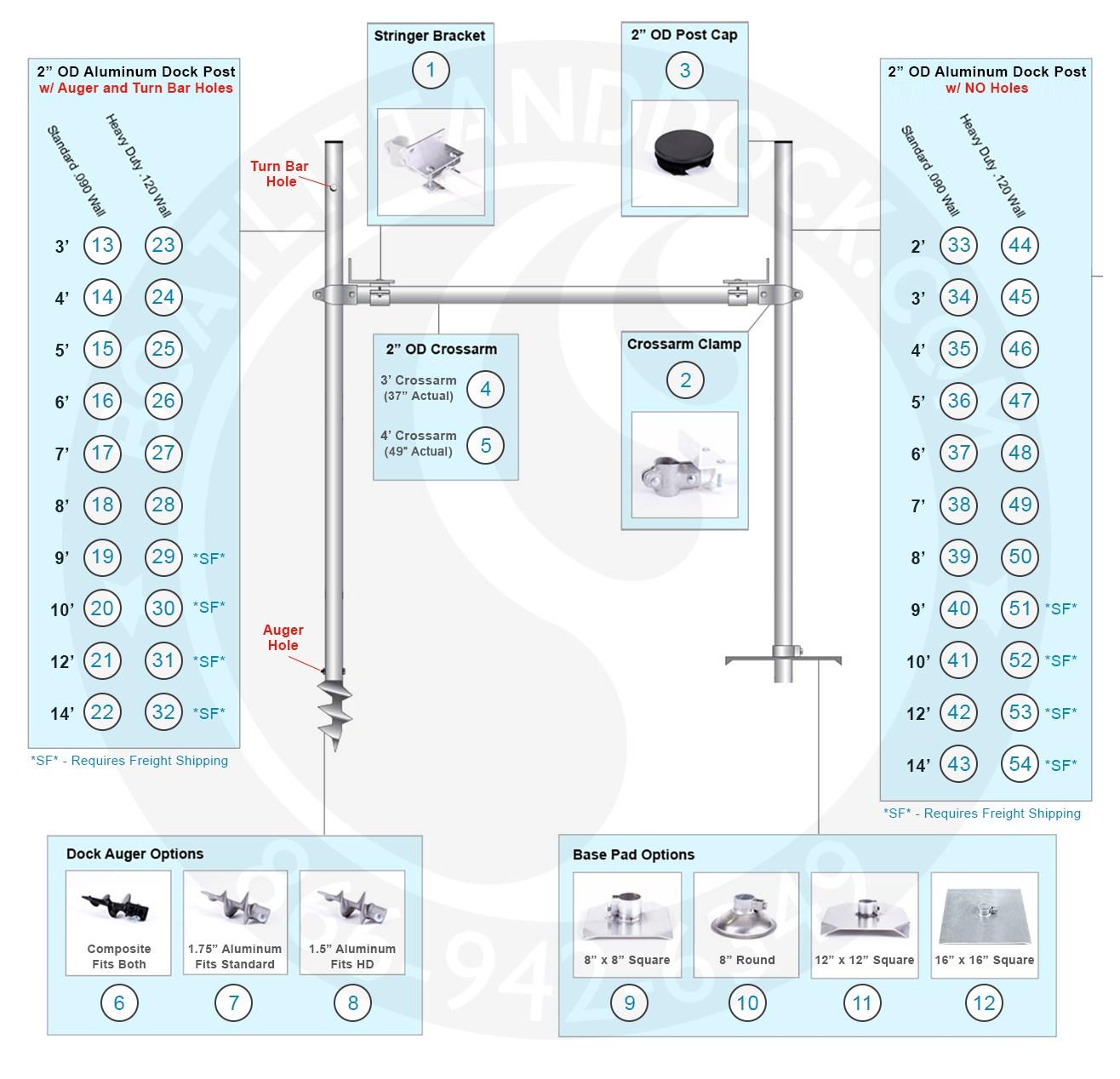 H-Frame Parts Diagram