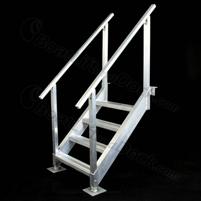 Shoreline Aluminum 4 Step Dock Stairs