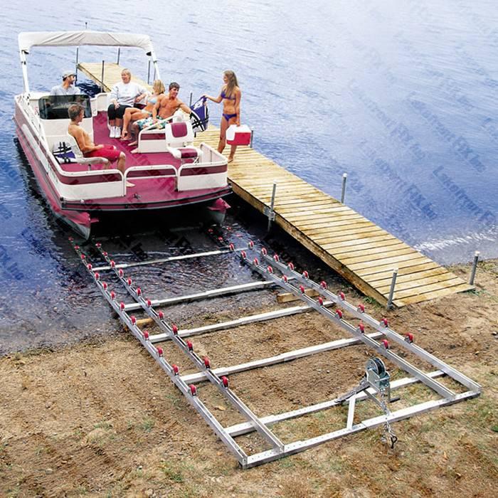 Pontoon Boat Ramp Roll N Go Shore Ramps Pontoon Boat Lifts