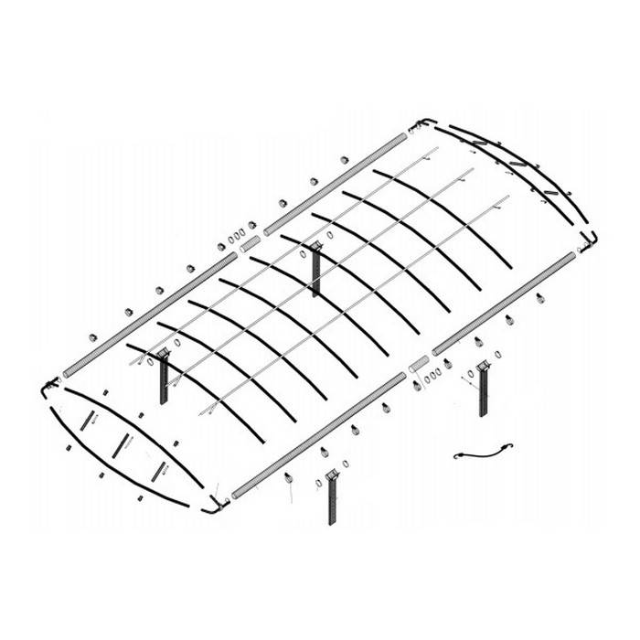 Lakeshore Products 28 X 120 Quot Canopy Frame