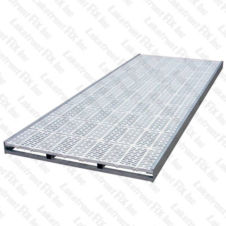 Lsp 4 X10 Vinyl Aluminum Dock Section